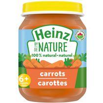 Aliments naturels à 100 % pour bébés Heinz de Nature – Carottes biologiques en purée