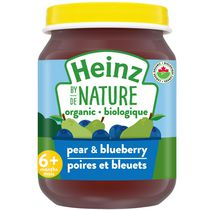 Heinz by Nature Organic Baby Food - Pear & Blueberry Purée