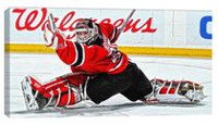 Frameworth Sports Martin Brodeur - 14 x 28 Canvas New Jersey Devils Art Print