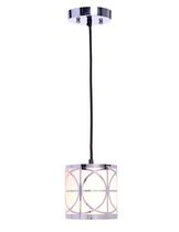 hometrends 6-inch Chrome Lattice Mini Pendant Light