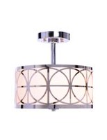 hometrends 12-inch Chrome Lattice Semi-Flushmount Light