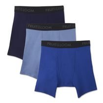 Fruit of the Loom Men's Breathable Boxer Briefs - Pack of 3 S