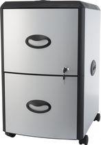 Storex Filing Cabinet 2-Drawer+ Hard Top/ Grey