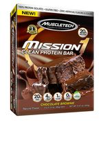 MuscleTech Mission 1 Chocolate Brownie Clean Protein Bar