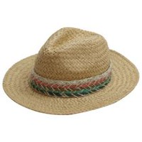 George Women s Natural Woven Panama Hat with Wide Band 9c9f7f891ed