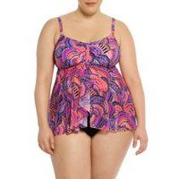 Krista Women's Plus Size Tankini Swim Top 1x