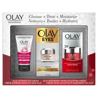 Olay Regenerist Regenerating Cream Cleanser, Ultimate Eye Cream & Micro-Sculpting Cream Gift Pack
