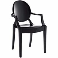 Nicer Furniture Black Ghost Arm Chair