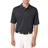 Ben Hogan Men's Golf Performance Solid Textured Short Sleeve Polo Shirt Caviar 2XL