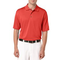 Ben Hogan Men's Golf Performance Solid Textured Short Sleeve Polo Shirt Red XL