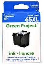 Cartouche d'encre noire remise a à neuf HP65 XL Green Project, (H-65XLBK)