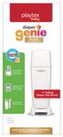 Playtex Diaper Genie Elite Diaper Pail System with Front Tilt Pail for Easy Diaper Disposal, White
