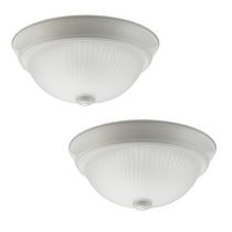 Globe Electric 65187 Hannah 11-inch Flush Mount Ceiling Light Combo