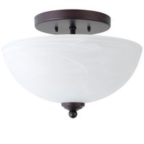 Globe Electric 65192 Vienna 12-inch Semi Flush Mount Ceiling Light