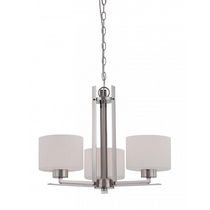 Focus 3-Light Polished Nickel Candle-Arm Chandelier