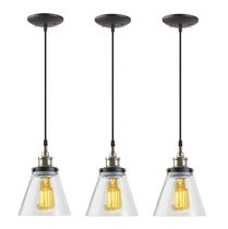 Globe Electric Jackson 1-Light Antique Brass & Bronze Hanging Pendant