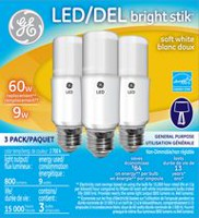 Ampoule d'éclairage DEL Bright Stik de GE Lighting blanc doux de 9 W