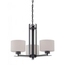 Focus 3-Light Aged Bronze Candle-Arm Chandelier
