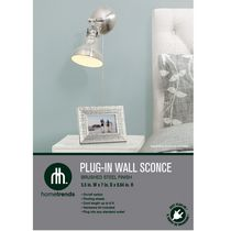 hometrends 1 Light Wall Sconce with Brushed Steel Shade