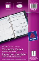 "Monthly and Weekly Calendar Pages 5-1/2"" x 8-1/2"""