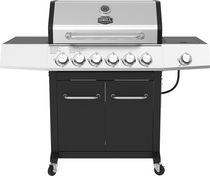 Expert Grill Barbecue au gaz propane à 6 brûleurs avec chariot