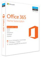 Microsoft Office 365 Home 2016, English