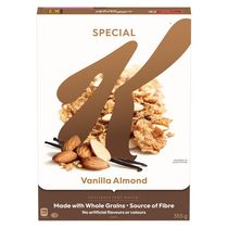 Céréales Kellogg's SpecialK Vanille et amandes, 355g