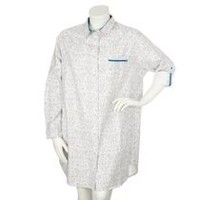 George Plus Women's Woven Nightshirt White 1X