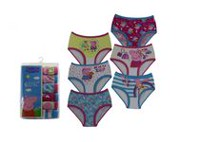 Nelvana Girls' 6 Pack Peppa Pig Underwear 3T