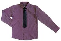 George Boys' Long Sleeve Dress Shirt with Tie M