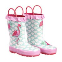 Weather Spirits Toddler Girls' Rubber Boots 5