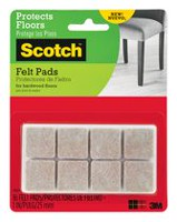 Scotch® Square Felt Pads
