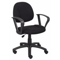 Nicer Furniture Black Computer Desk Chair with Loop Arms