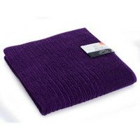 Mainstays Ring Spun Bath Towel Purple