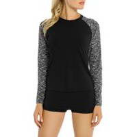 Athletic Works Women's Long Sleeve Swim Rash Guard M