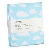 George baby Organic Cotton Flannel Crib Sheet