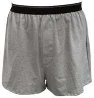 George Yves Martin Men's Knit Boxer Grey XL