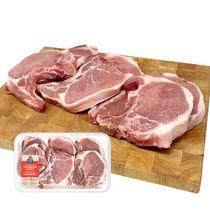 Maple Leaf Fresh Pork Loin Combination Chops, Center Rib and Sirloin