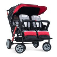 Foundations 4 Passenger Stroller Red