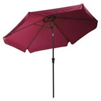 CorLiving PPU-250-U 10 ft Tilting Patio Umbrella in Wine Red