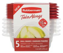 Rubbermaid TakeAlongs Food Storage Containers, Set of 5
