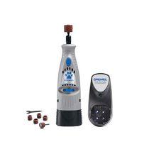 Dremel 7300-PT 4.8V Cordless Pet Dog Nail Grooming & Grinding Tool, Safely & Humanely Trim Pet & Dog Nails, Grey
