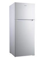 Réfrigérateur Galanz de 7,6 pi³ à congélateur supérieur, aspect acier inox