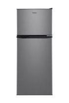 Réfrigérateur Galanz de 10 pi3 à congélateur supérieur, aspect acier inox