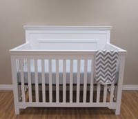 Concord Baby Taylor White 4-in-1 Baby Crib
