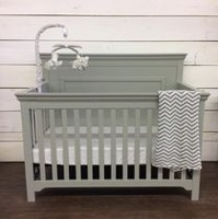 Concord Baby Taylor Light Grey 4-in-1 Baby Crib