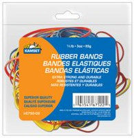 Kamset Rubber Bands - 3OZ - Assorted Colors