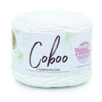 Lion Brand Yarn 835-100 Coboo White Natural Fiber Yarn