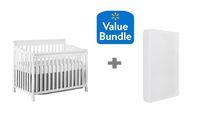 Concord Baby Sara 4 in 1 Convertible Crib White + Bonus Twinkle Twinkle Crib Mattress