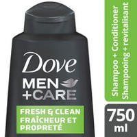 Dove Men+Care® Fresh Clean Caffeine + Menthol 2-in-1 Fortifying Shampoo + Conditioner